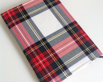Tartan / fabric covered a5 hard backed notebook