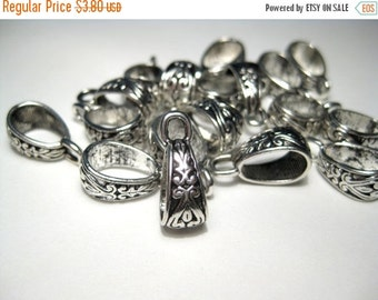 50% OFF Clearance Sale 10pcs Antique Silver Bails 18x7mm Metal Beads