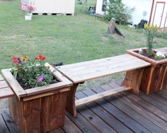 Flower planters and Bench, patio furniture, deck furniture, flower planter, vegetable planters, flower box