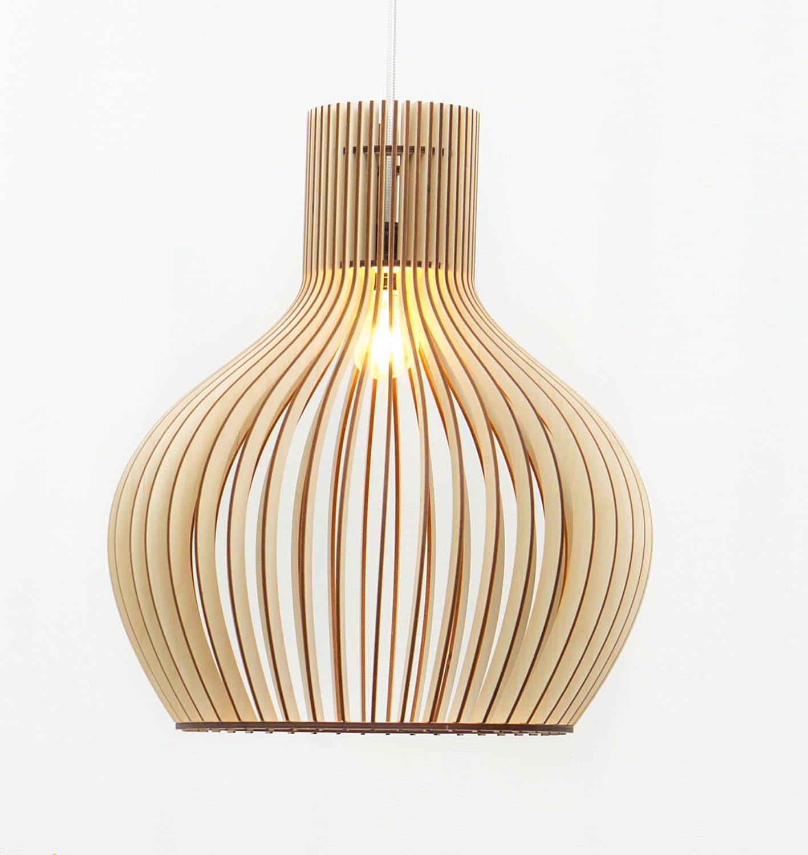 lampes en bois d j assembl s bois lampe suspendue bois. Black Bedroom Furniture Sets. Home Design Ideas
