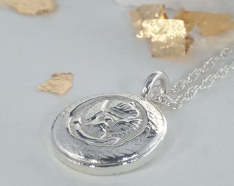 Handmade Sterling Silver Military Pendant Necklace