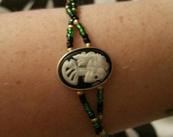 Skull cameo bracelet