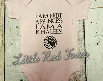 Game of thrones onesie - Khaleesi onesie - mother of dragons onesie- baby onesie - Daenerys Targaryen onesie