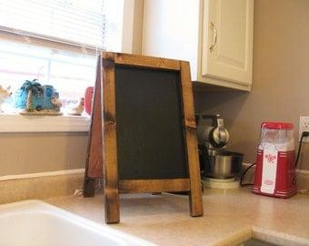 Counter Top Chalk Board, Small Chalk Board, Standing Chalk Board, Chalkboard Easel, Rustic Chalkboard, Bar Top