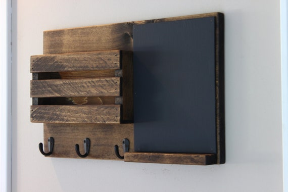 Chalkboard mail organizer mail holder mail rustic for Porte revue mural