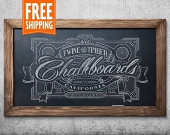 Standard Rustic Framed Chalkboard - Honey Maple