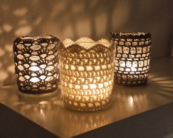 Crocheted lantern