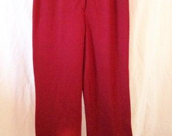 Pants vintage, Garnet red jersey, Rodier, T 40 / 42.