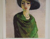Kees van Dongen Woman with Black Hat Hermitage Museum large art picture famous Dutch artist HOLIDAY GIFT искусство подарок