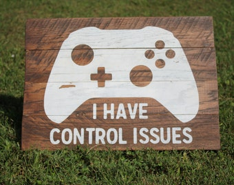 xbox wood sign control issues sign playroom wood sign game room decor - Teen Wall Decor