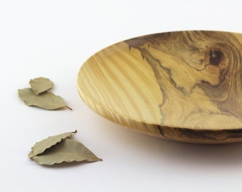 Wooden dish – Wooden platter – Wood dish - Wood platter – Low wooden bowl – Wooden tray – Serving platter – Round wooden dish