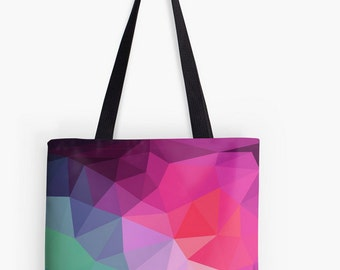Geometric Triangles Tote Bag Beach Tote