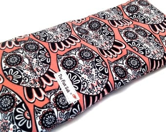 Microwave FLAX HEATING PAD, Hot cold pack, Mandala Owl, washable covers, Flax seed Bag, Great Gift, All flax All Natural, cold heat packs