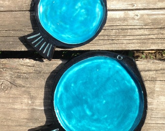 Sea and salt fish plates (stackable)