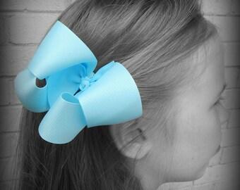 Light Blue Hair Bow, Baby Blue Hair Bow, Blue Boutique Hair Bow, Hairbows, Blue Hair Clip, School Hair Bows, Hair Bows for Babies, Blue Bow
