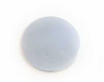 Five 7/8 inch Aluminum Discs, 18 Gauge Stamping Blanks, Tumbled for Hand Stamping