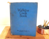Antique Watkins Cookbook  1938 The J.R. Watkins Co. Cook Book Blue Spiral Bound | Recipes Kitchen Cooking Book | Gift for Cook New Bride