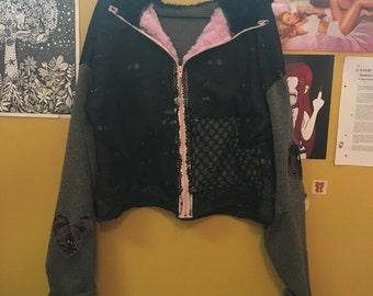 Lil goth angel hoodie