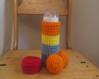 PENIS COZY, gay candle, rainbow candle, gay man gag gift, crochet, gay pride, rainbow pride, rainbow crochet, penis cozy, pride candle,penis