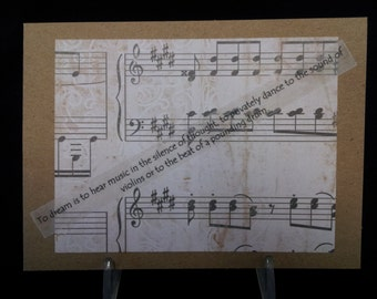 To Dream is to hear music... Blank Note Card