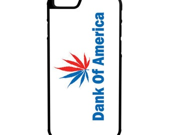 Dank Of America iPhone Galaxy Note LG HTC Hybrid Rubber Protective Case Bud 420