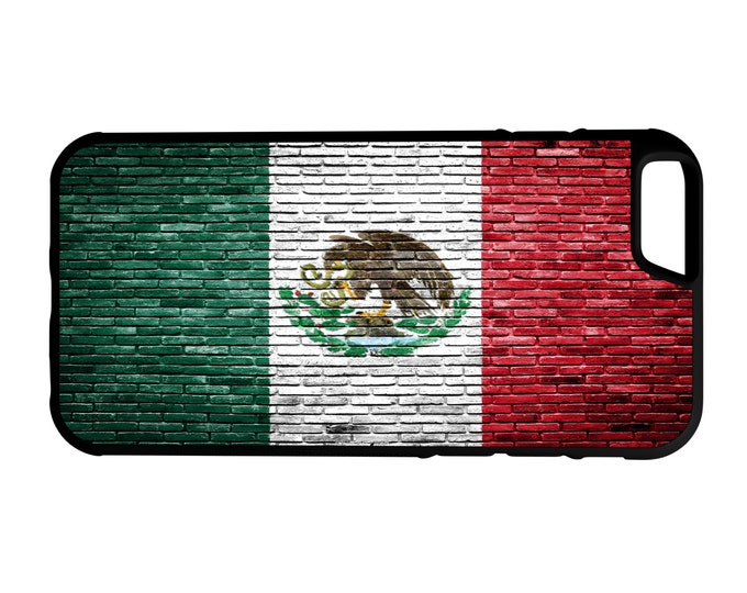 Mexico Flag Brick Wall iPhone Galaxy Note LG G4 Hybrid Rubber Protective Case Chicano