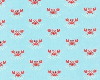 Beachy Keen - Crabs Aqua - Caleb Gray - Robert Kaufman (ACY-15895-70)