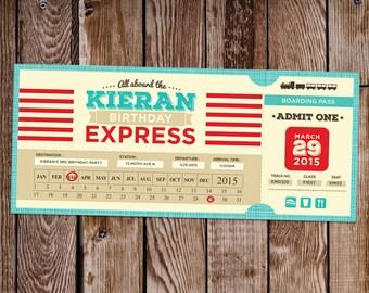 Train Ticket Birthday Invite