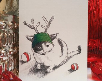 Sour Cat Holiday Card