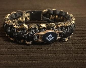 Masonic Camo Paracord Bracelet