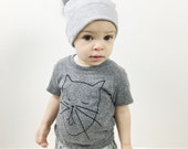 SALE - Creative Cat toddler eco triblend t shirt (black/ grey), Trendy Kids, Baby Hipster Shirt, Cool Kids Shirt, Cat T shirt, Cat drawing