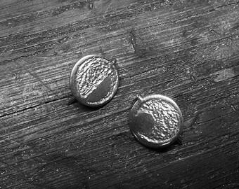 6N7 - Boucles d'oreilles rondes, motif aléatoires effet sable