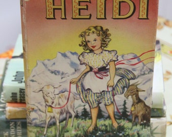 "A striking 1957 hard back of Johanna Spyri's  Childrens book Classic ""Heidi"""