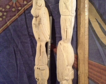 Hand carved God/dess Frey/Freya