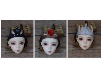 Doll Bjd Leather Crown
