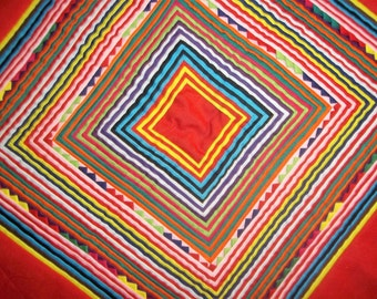 Geometric Mola made by Kuna Women in Panama