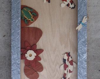 Handmade Koi Pond Wall Art