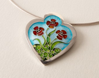 Trio of Poppies Pendant
