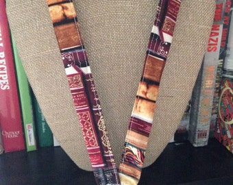 Reading Teacher Librarian ID Holder Badge holder Book Lanyard