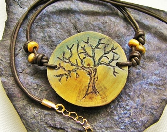 Made In Canada, Tree Of Life Necklace, Personalized Jewelry, Nature Inspired, Reclaimed, One Of A Kind