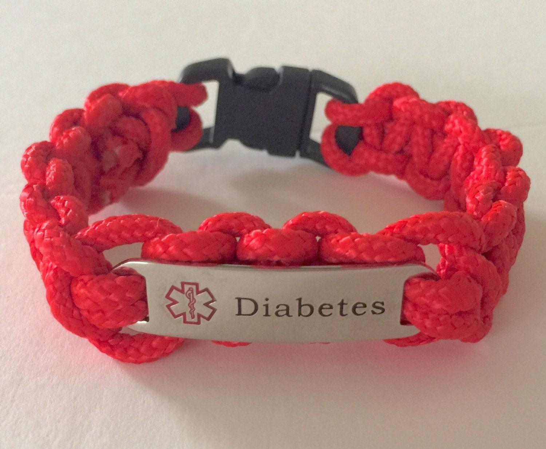 paracord diabetes alert bracelet