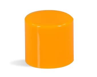 48 Orange Caps for Round .15oz Lip Balm Tubes [Free Shipping]
