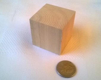 Craft Blocks - 1.75 inch Unfinished Wooden Blocks made from Cedar