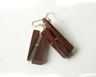 Earrings Rosewood Wood Earrings