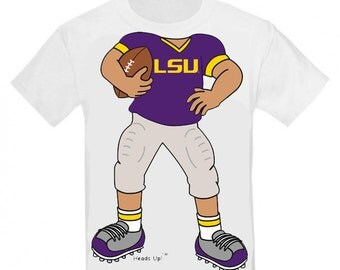 LSU Tiger Heads Up! Football Baby/Toddler T-Shirt