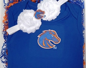 Boise State Broncos Game Day Gal Baby Clothing Gift Set