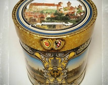 Collectible German Gingerbread Cookie Festive Tin/ Candy Tin / Storage Tin / Collectible Tin / Gift Tin / Best Gift Idea / F1424