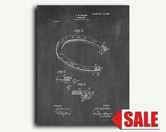 Patent Art - Horseshoe Patent Wall Art Print