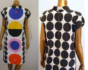 Reserved for Valerie Mod super graphic color block dress Small Medium