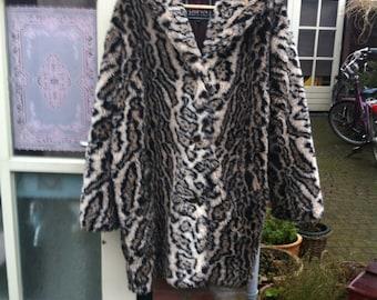 Funky vintage fake fur coat